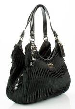 COACH Madison Maggie Leather & Sateen Shoulder Bag BLACK 18886