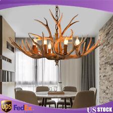 Chandelier Lamp Modern LED Antler Vintage Lights Novelty Living Room Home Decor