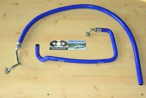 2x Wasserschlauch Turbolader *NEU* OPEL Calibra C20LET Schläuche Turbo Blau