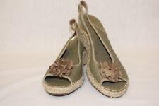 "NWOB CLARKS ""Petrina Bianca"" Women's Rope Wedge Sandals, Green & Brown, 9M-B85"