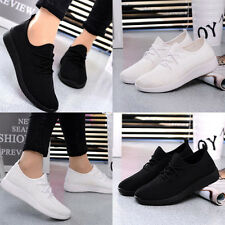 Women's Sports Running Casual Shoes Fitness Gym Trainers Comfort Black White