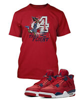 Take Flight Tee Shirt To Match AIR JORDAN 4 FIBA Shoe Graphic T Shirt Pro Club T