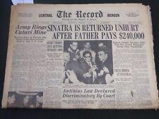 1963 DEC 11 THE RECORD NEWSPAPER - SINATRA IS RETURNED UNHURT - NJ - NP 2415