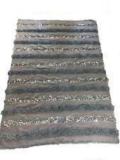 Moroccan Wedding Blanket/Handira NEW Gorgeous Grey Cotton Sequins Cotton XLarge