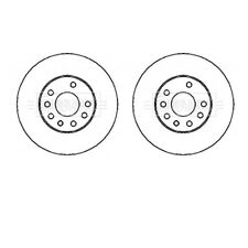 A PAIR OF BORG & BECK FRONT BRAKE DISCS FITS VAUXHALL ASTRA SAAB 9-3 9194477