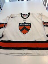 Game Worn Used Princeton Tigers Hockey Jersey Size 56 #15 Tyler Maugeri