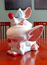 PINKY AND THE BRAIN! 1997 COOKIE JAR WARNER BROTHERS with orig box. never used.