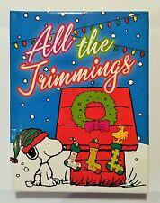 Snoopy - Notizbuch Buch blau mit Weihnachtsmotiv / Peanuts / Neu & OVP USA