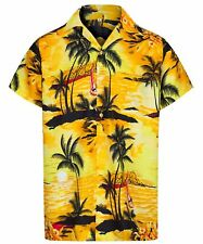 MENS HAWAIIAN SHIRT PALM TREE STAG BEACH HOLIDAY ALOHA SUMMER FANCY DRESS S -2XL