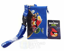 Angry Birds Space Royal Blue Lanyard ID Ticket Badge Key Chain Holder Wallet