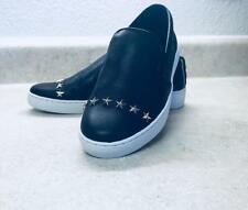 Michael Kors Keaton Slip On Leather Star Studs Sneakers Black women shoes Sz 8