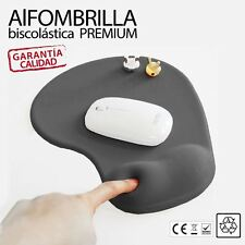 Alfombrilla para raton ergonomica biscolastico apoyo de Gel reposamuñecas Negro