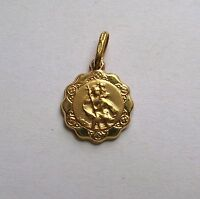 9ct Gold Lightweight St Christopher Pendant 0.6g