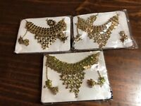 Jewelry Set Necklace And Earring Set Lot Of 3