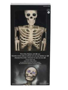 """60"""" inch Pose-N-Stay Skeleton 5 FOOT/1.52 METRE Halloween Prop Life Size Bones"""