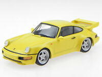 Porsche 911 964 RS 3.8 yellow 1992 diecast modelcar Atlas 1:43