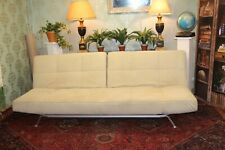 Ligne Roset smala sofa bed in beige alcantara RRP £4500 new