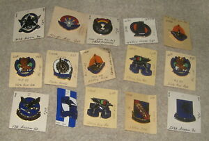 Army Aviation Unit Crest Pin Badge DUI Lot Of Fifteen