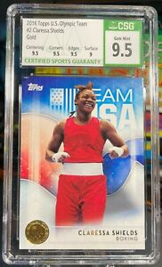 Claressa Shelds GOLD Parallel -- Topps 2016 US Olympic Team Card - GEM MINT