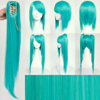 VOCALOID Hatsune Miku Long Teal Wig Hair for Japanese Anime Cosplay/Halloween