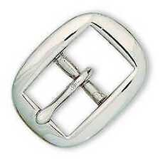 Tandy Leather Oval Bridle Buckle Nickel over Brass 5/8''