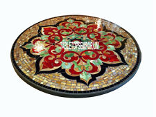 48'' Marble Dining Table Top Pietra Dura Carnelian Marquetry Floral Inlay Decor