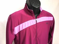 NIKE Women's Large (12-14) L/S Full Zip Training Running Jacket Purple Pink L