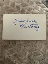 Ken Strong Signed Autographed Index Card NFL Player
