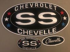 LARGE CHEVY SS CHEVELLE SEW/IRON ON PATCH BADGE EMBROIDERED 6-1/4X12 JACKET