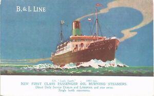 Advertising. B & I Shipping Line SS Lady Louth. Daily Service Dublin & Liverpool
