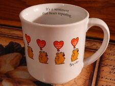 SANDRA BOYNTON COFFEE CUP MUG WHITE I LOVE YOU HOLDING BALLOONS BEARS REPEATING