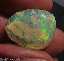 11,7ct. KRISTALL GEM WELO LANDSCHAFTS OPAL GOLDEN/GRÜN VIDEO  FLASHFIRE-OPALS