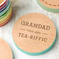 Personalised Grandad Gifts Christmas Xmas Present Coaster Funny Birthday Best