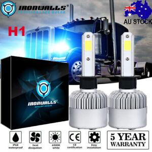 Car H1 LED Headlight Bulb Globe White 9600LM Pair 80W For Opel Peugeot Renault