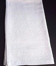 1 Dozen NEW Bath Towels 22 x 44 100% Cotton Terry White Hotel Kitchen Utility