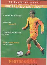Programme / Programma Holland v Moldova 11-10-2003 EURO 2004 Qualifier