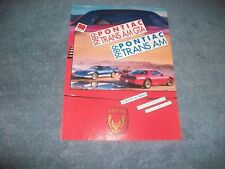 "1989 Pontiac Trans Am GTA Vintage Road Test Info Article ""A Bird For Two Reasons"