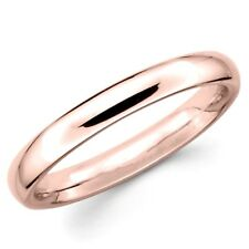 14K SOLID 3MM ROSE GOLD TRADITIONAL WEDDING BAND RING UNISEX NICE JEWELRY GIFT