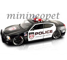 JADA 63013 BIGTIME MUSCLE 2006 DODGE CHARGER R/T 1/18 POLICE CAR BLACK / WHITE