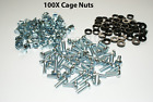 USA SELLER - 200 PACK LOT - M6 RACK MOUNT SQUARE CAGE NUTS, SCREWS, and WASHERS