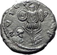 SEPTIMIUS SEVERUS 194AD Silver Authentic Ancient Roman Coin Trophy Emesa  i61483