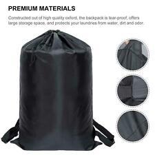 US Laundry Backpack Bag Luggage Storage Shoulder Strap Heavy Duty Drawstring Bag