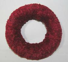 "VTG 5"" MINIATURE 1940'S CHENILLE XMAS WREATH, CRAFTS, FOR YOU TO DECORATE!"