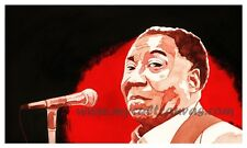 Original Muddy Waters Art Print By Phil Gibson Blues Guitar Poster Memphis DELTA