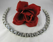 Sterling Silver 87g Taxco Mexico Show Stopper Necklace Cat Rescue