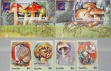 Lesoto 2001 1764-67 bloque 178-79 1282-85 1288-9 Mushrooms hongos fungi flora mnh