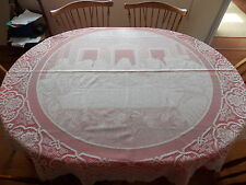 "HERITAGE LACE IVORY LAST SUPPER ""EASTER TIME"" 70"" ROUND TABLECLOTH ITEM 6054"