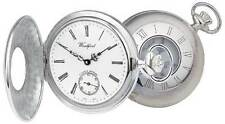 Pocket Watch Sterling Silver Half Hunter Engine Turned - Woodford 1005