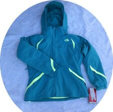Women North Face Winter Ski Jacket COAT Parka Kira Triclimate Teal Large L