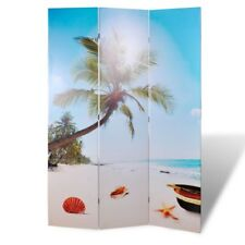 # Large Folding 6 Panels Room Divider Screen Solid Wood Print Beach Privacy 240c